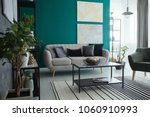 table on striped carpet in...   Shutterstock . vector #1060910993
