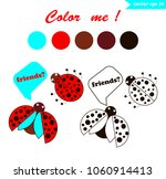 coloring book page for children ... | Shutterstock .eps vector #1060914413
