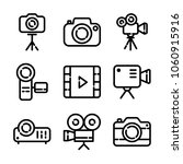 photo and 3video icon set | Shutterstock .eps vector #1060915916