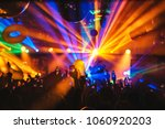 Stock photo dj night club party rave with crowd in music festive 1060920203