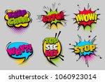 keep calm gtfo stop wow pop set ... | Shutterstock .eps vector #1060923014
