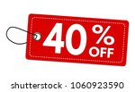 special offer 40  off label or... | Shutterstock .eps vector #1060923590