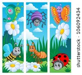 bugs banners collection 2  ... | Shutterstock .eps vector #106092434