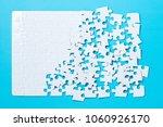 Unfinished White Jigsaw Puzzle...