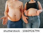 overweight couple don't know... | Shutterstock . vector #1060926794