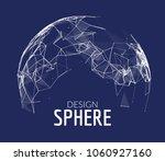 3d vector geometric background... | Shutterstock .eps vector #1060927160