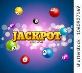 lottery jackpot bingo colorful...   Shutterstock .eps vector #1060927169