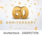 60 anniversary gold numbers... | Shutterstock .eps vector #1060927196