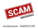 scam grunge red stamp. scam... | Shutterstock .eps vector #1060927199