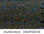 coding script text on screen.... | Shutterstock . vector #1060928156