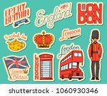 british vintage stickers  crown ... | Shutterstock .eps vector #1060930346