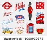 british  crown and queen ... | Shutterstock .eps vector #1060930376