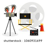 cinema cameramovie film... | Shutterstock .eps vector #1060931699