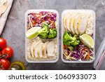 healthy meal prep containers... | Shutterstock . vector #1060933073