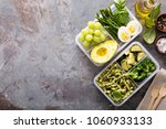 vegetarian meal prep containers ... | Shutterstock . vector #1060933133