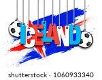 banner the inscription iceland...   Shutterstock .eps vector #1060933340