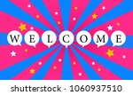 welcome word bubble and star... | Shutterstock .eps vector #1060937510