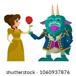 beast and beauty monster | Shutterstock .eps vector #1060937876