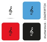 treble clef flat vector icon. | Shutterstock .eps vector #1060939724