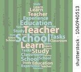 text cloud. education wordcloud.... | Shutterstock .eps vector #1060940513