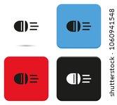 headlight flat vector icon. | Shutterstock .eps vector #1060941548