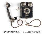 Rotary Phone Vintage Black...
