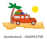 big good orange safari car auto ... | Shutterstock .eps vector #1060951700