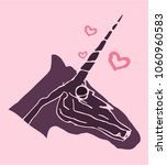 fantasy unicorn skull cute...   Shutterstock .eps vector #1060960583
