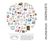 hand drawn doodle vote icons... | Shutterstock .eps vector #1060961873