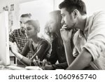 students meet in front of a... | Shutterstock . vector #1060965740