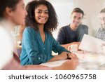 in college. a group of students ... | Shutterstock . vector #1060965758