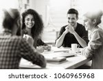 meeting at the startup office.... | Shutterstock . vector #1060965968