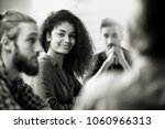 meeting at the startup office . ... | Shutterstock . vector #1060966313