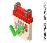 calendar icon. isometric...   Shutterstock .eps vector #1060967840