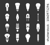 light bulb icons set vector... | Shutterstock .eps vector #1060971296