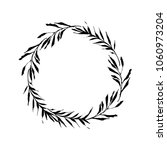 floral rustic branch wreath for ... | Shutterstock .eps vector #1060973204