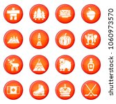 canada travel icons set vector... | Shutterstock .eps vector #1060973570