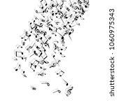 musical signs. modern... | Shutterstock .eps vector #1060975343