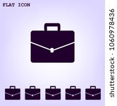briefcase icon with shadow   Shutterstock .eps vector #1060978436