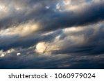 white  grey heavy fluffy ... | Shutterstock . vector #1060979024