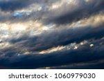 white  grey heavy fluffy ... | Shutterstock . vector #1060979030
