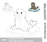 walrus. dot to dot educational... | Shutterstock .eps vector #1060987988