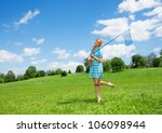 pretty nice girl with butterfly ... | Shutterstock . vector #106098944
