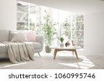 idea of white minimalist room... | Shutterstock . vector #1060995746