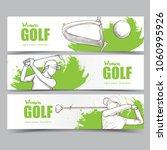 golf banner set whit... | Shutterstock .eps vector #1060995926