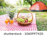 healthy food and accessories... | Shutterstock . vector #1060997420