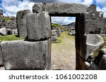 inca stone walls at the... | Shutterstock . vector #1061002208