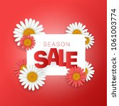 season sale offer. season sale... | Shutterstock .eps vector #1061003774
