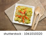 top view of stir fried winter... | Shutterstock . vector #1061010320