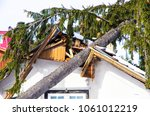 Damaged Roof Of The House  A...